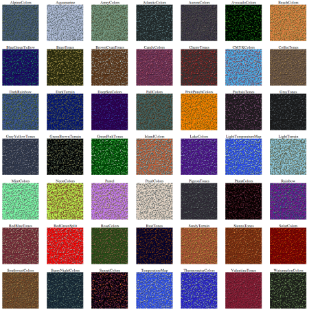 Perlin color swatches